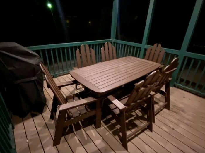 deck for the Deluxe Cabin at the Flagstaff KOA Holiday