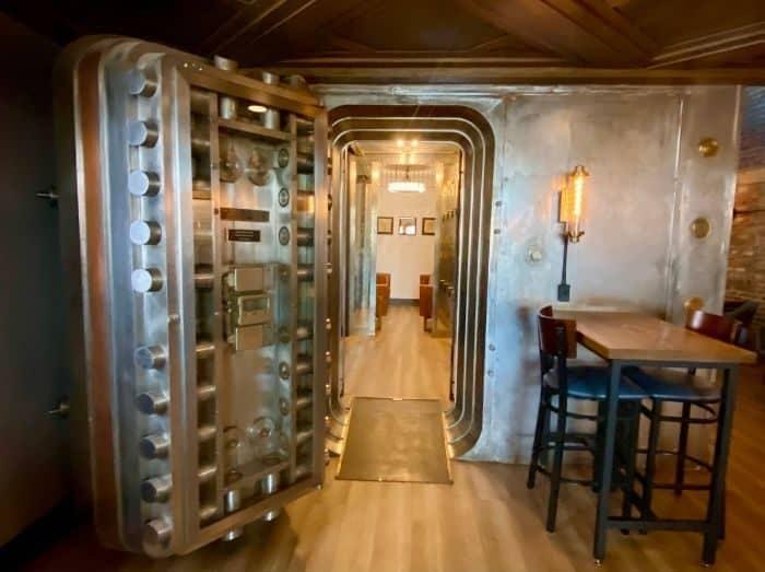 former bank vault at Heist + Co. Harrison Ohio
