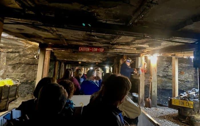 mine car tour at Beckley Exhibition Coal Mine