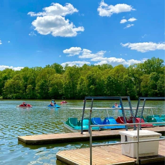 pedal boats on the lake at Miami Whitewater Forest