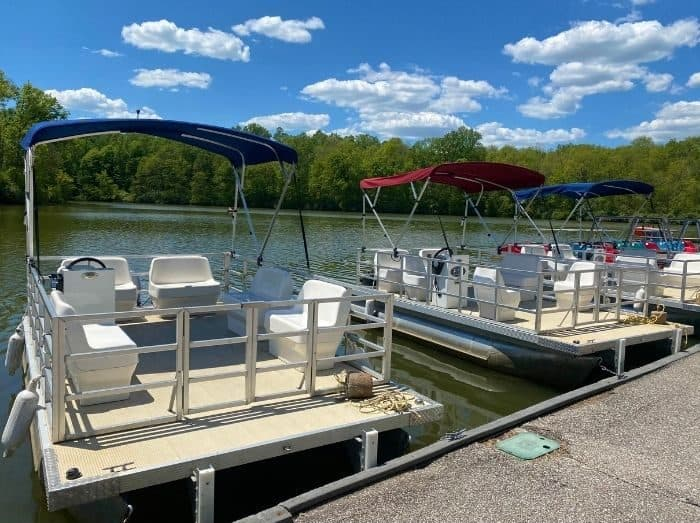 pontoon boat rentals at Miami Whitewater Forest