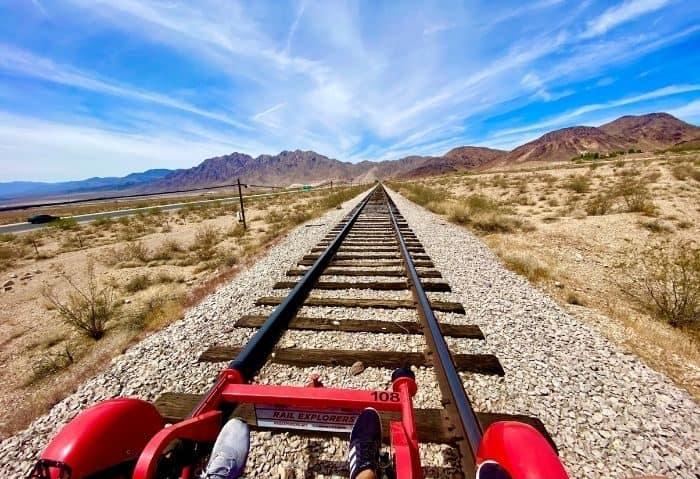 railbike ride with Rail Explorers in Nevada