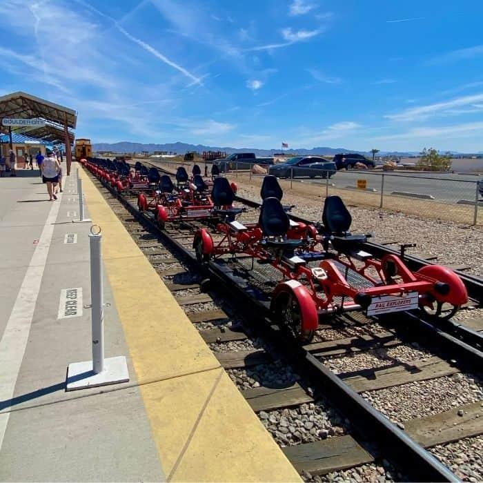 railbikes with Rail Explorers Las Vegas