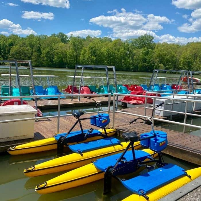 rental boats on the lake at Miami Whitewater Forest