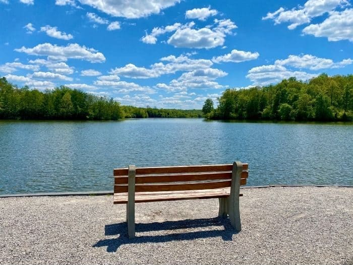 scenic view of the lake at Miami Whitewater Forest