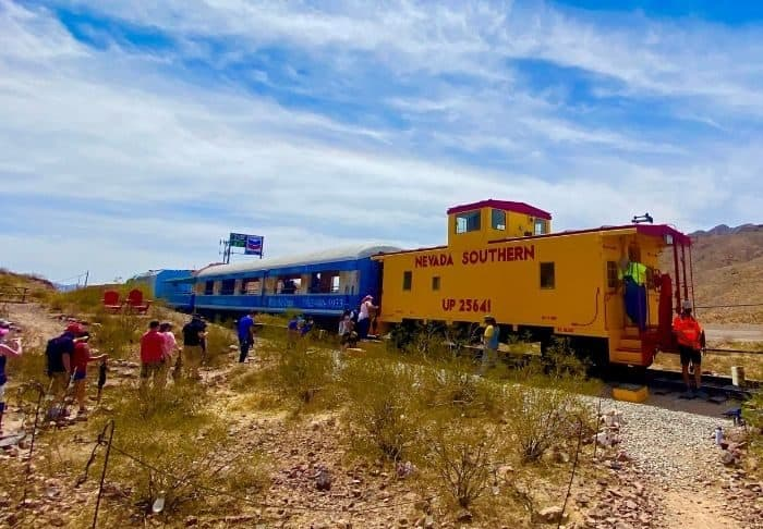 take a ride on a historic train in Boulder City