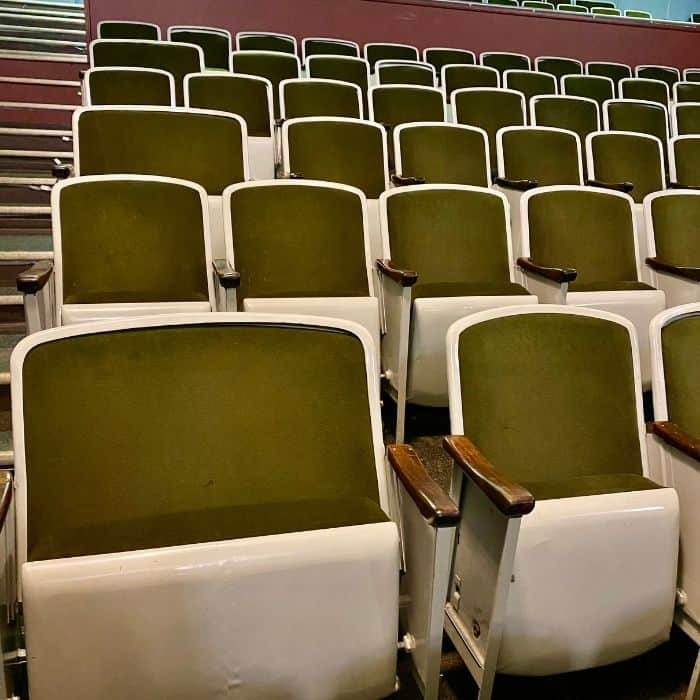theater love seats at Princess Theater in Decatur Alabama