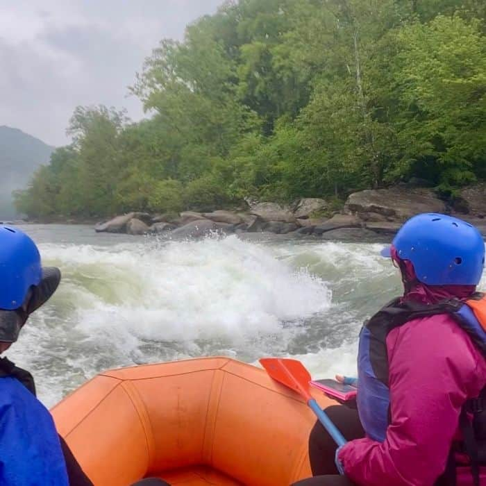 white water rafting on Upper New River