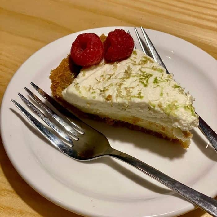 Key lime pie at Sunrise Cafe Yellow Springs
