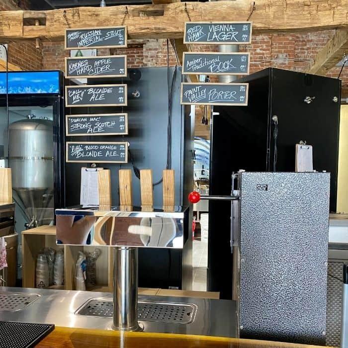 Micro brewery next to Catch 22 Pub