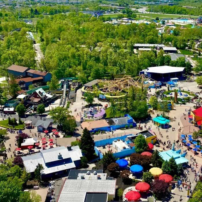 aerial view of Kings Island