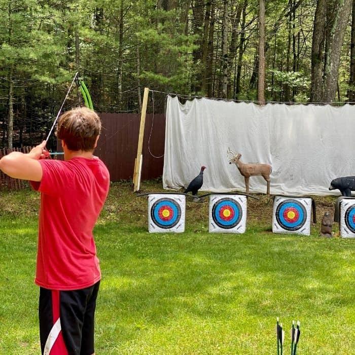 archery range at Muskegon Luge