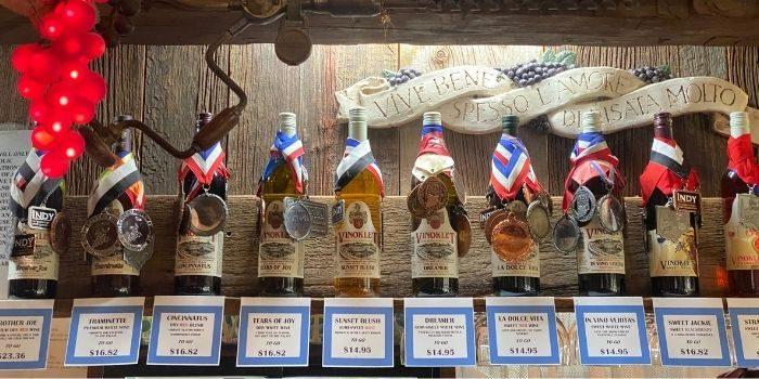 award winning wine at Vinoklet Winery in Ohio