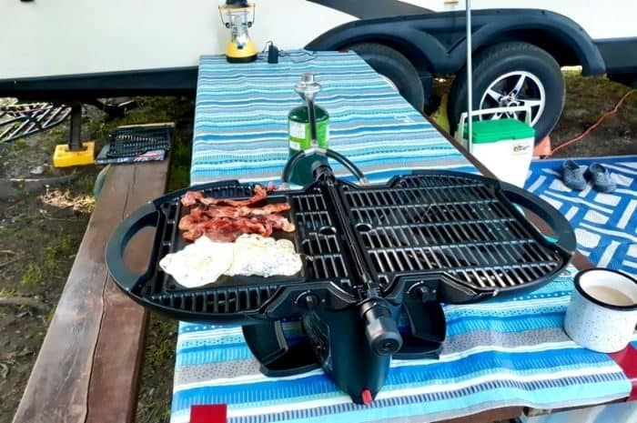 breakfast on the griddle for nomadiQ grill