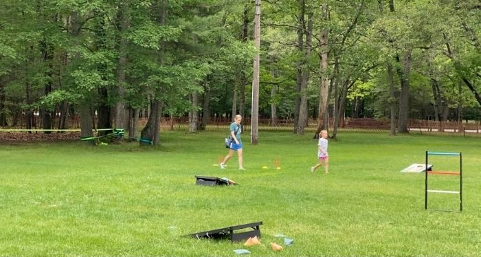chill zone with outdoor games in Muskegon