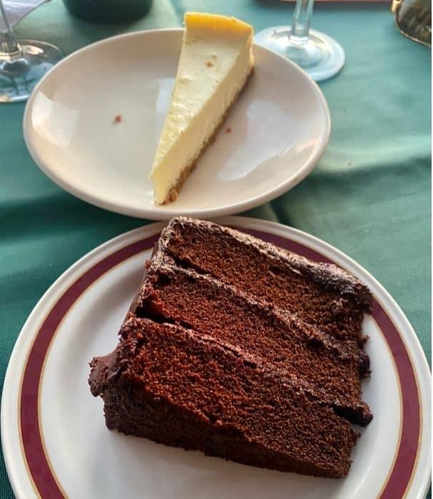 dessert at Vinoklet Winery