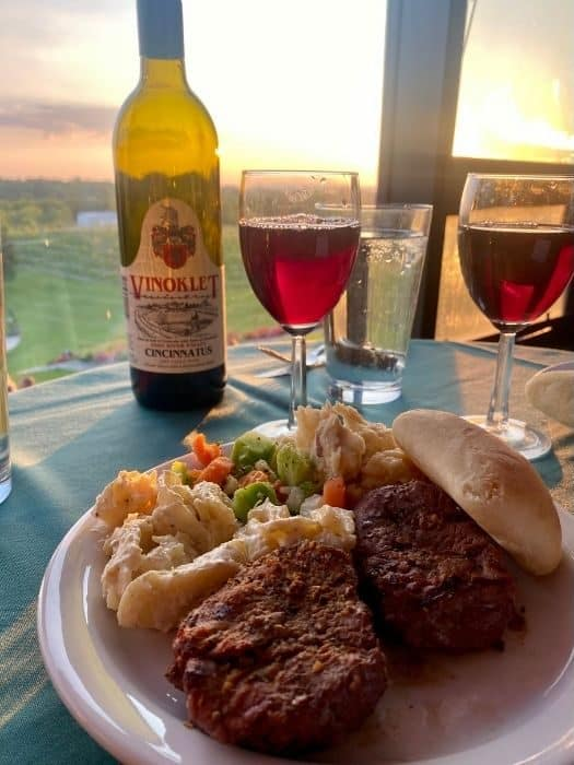 grilled to perfection dinner at Vinoklet Winery in Ohio