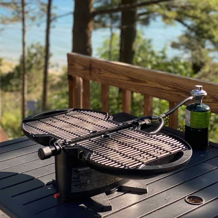 grilling surface of the  nomadiQ grill