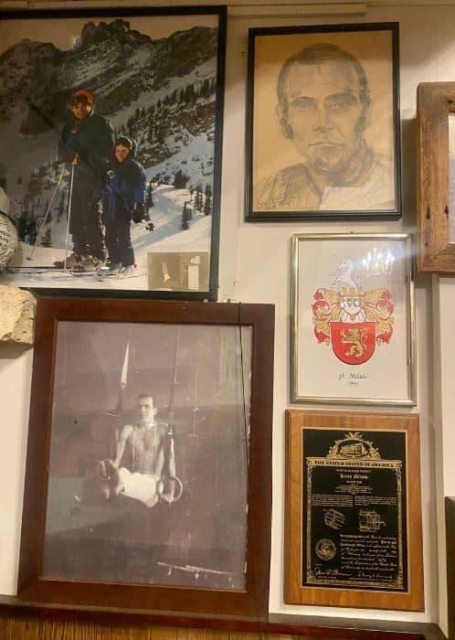 memorabilia on the wall at Vinoklet Winery