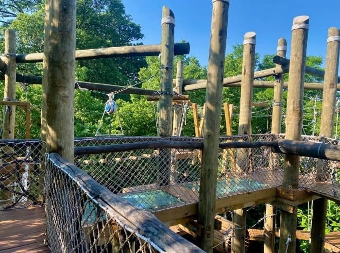 observation area for the Kanga Klimb course