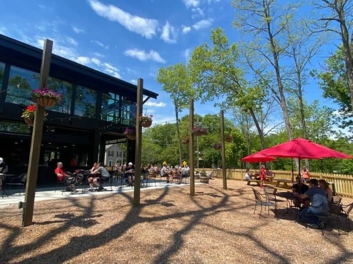 outdoor area at Miamiville Trailyard