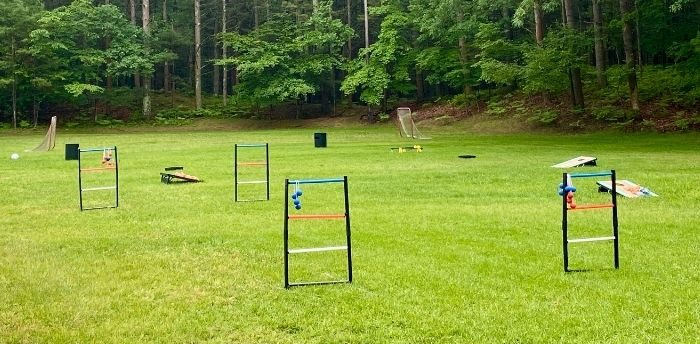 outdoor games at the Chill garden at Muskegon Luge Adventure Sports Park