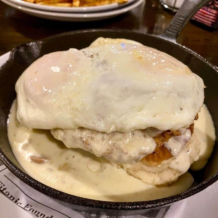 Biscuit and Gravy Benedict  Big Four Cafe