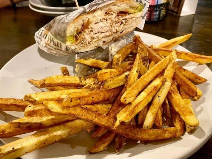 Chicken Bacon Avocado pressed sandwich Big Four Cafe