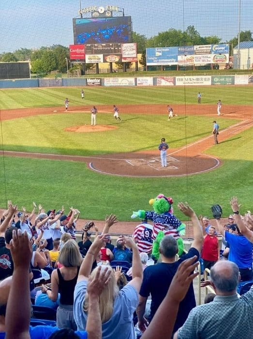 Lake County Captains Game at Classic Park