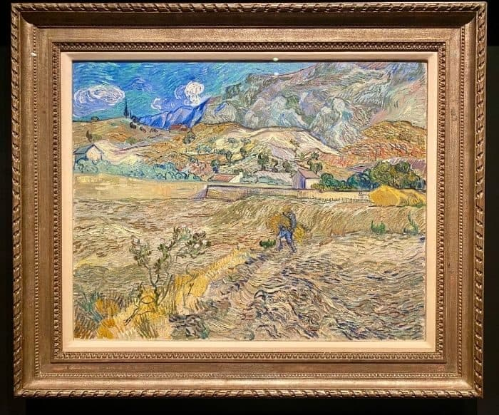 Landscape at Saint-Remy painting by Vincent Van Gogh