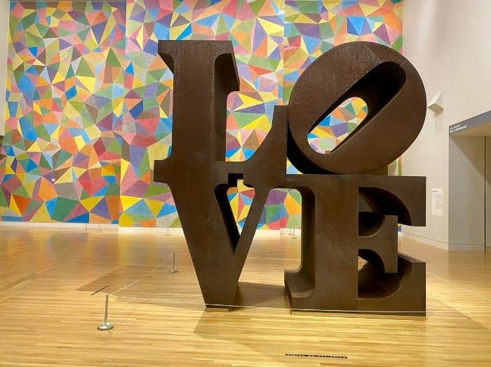 Love artwork at Newfields Indianapolis