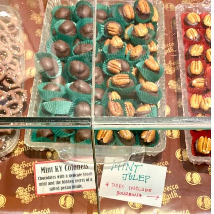 Mint KY Colonels at Rebecca Ruth chocolates