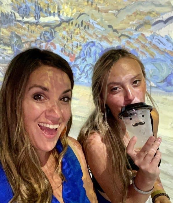Nedra McDaniel at THE LUME Indianapolis Van Gogh Experience