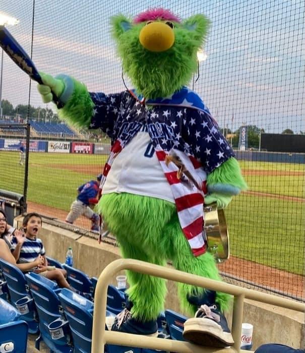 Skipper the mascot at Lake County Captains Game