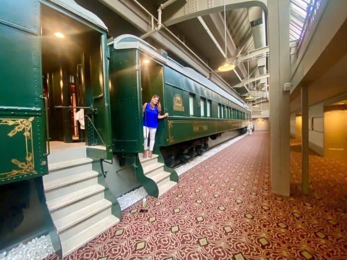Sleep in a Train Car at Crowne Plaza Indianapolis Downtown Union Station