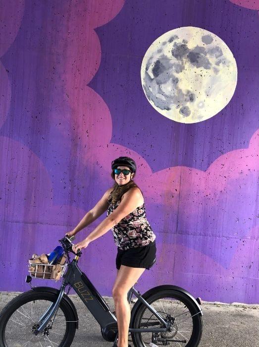 adventure-mom-on-bike- Mural-on Little-Miami-Scenic-Trail