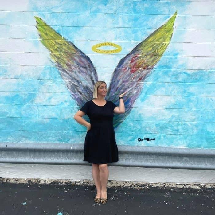 angel wings mural Frankfort KY