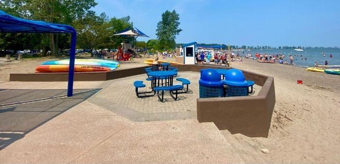 beach at Fairport Harbor Lakefront Park