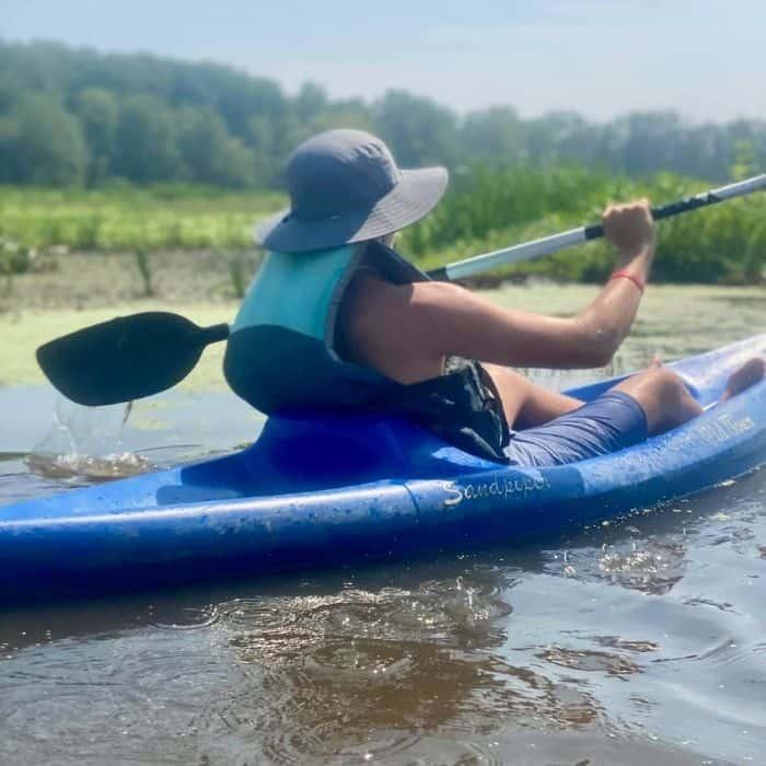 boy-kayaking -Mentor-Lagoons- Nature -Preserve- and- Marina