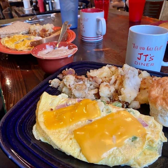 breakfast at JT's Diner