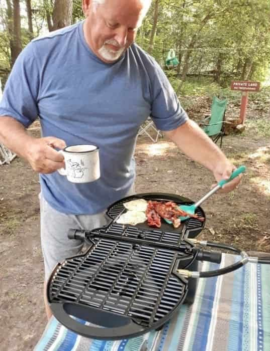 breakfast with the griddle for nomadiq portable gas grill