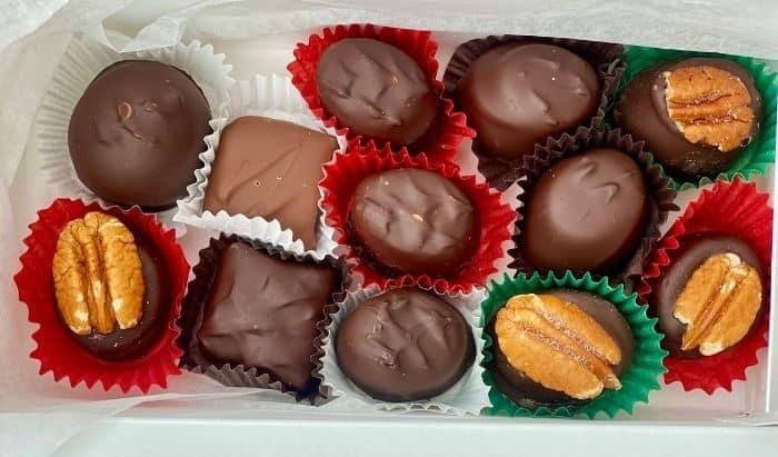 chocolates from Rebecca Ruth chocolates Frankfort