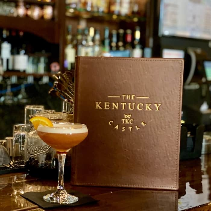 cocktail at The Kentucky Castle