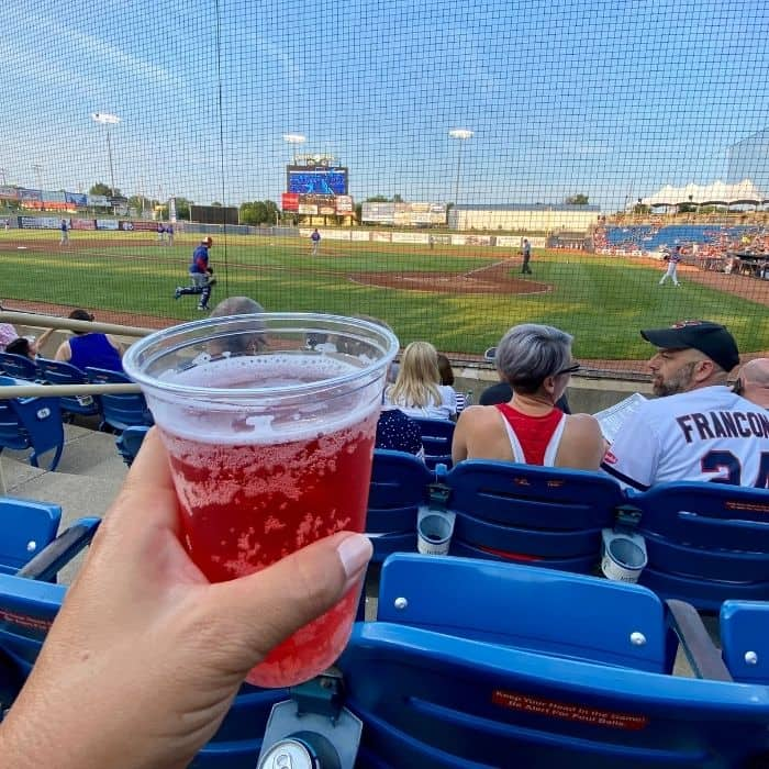 drink at Lake County Captains Game