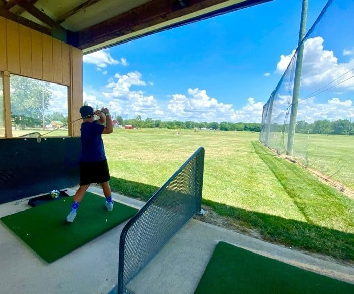 driving range at Young's Jersey Dairy