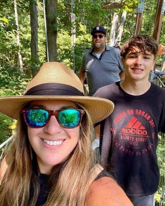 family walking on the Murch Canopy Walk