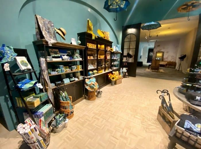 gift shop for THE LUME Indianapolis Van Gogh Experience