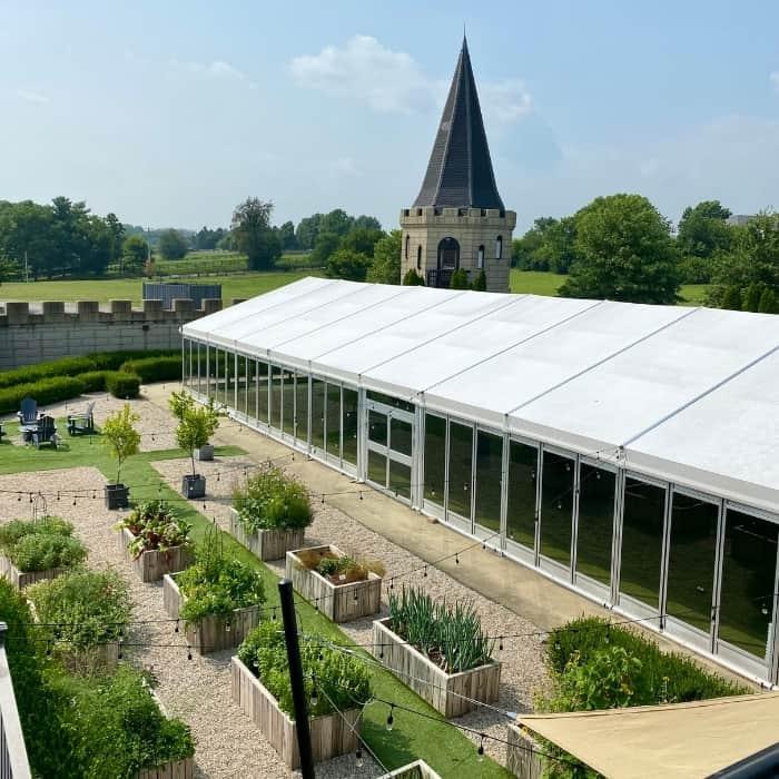 herb garden at The Kentucky Castle