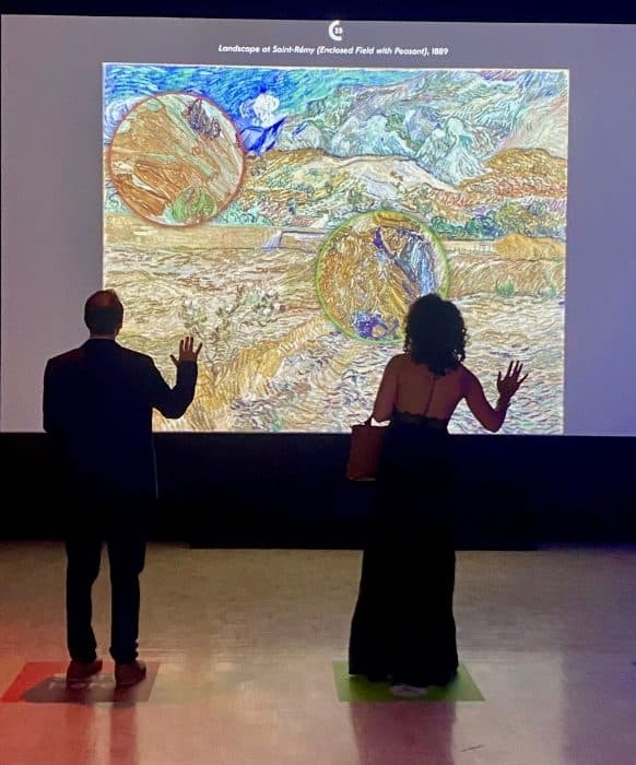 interactive exhibit at THE LUME Indianapolis Van Gogh Experience