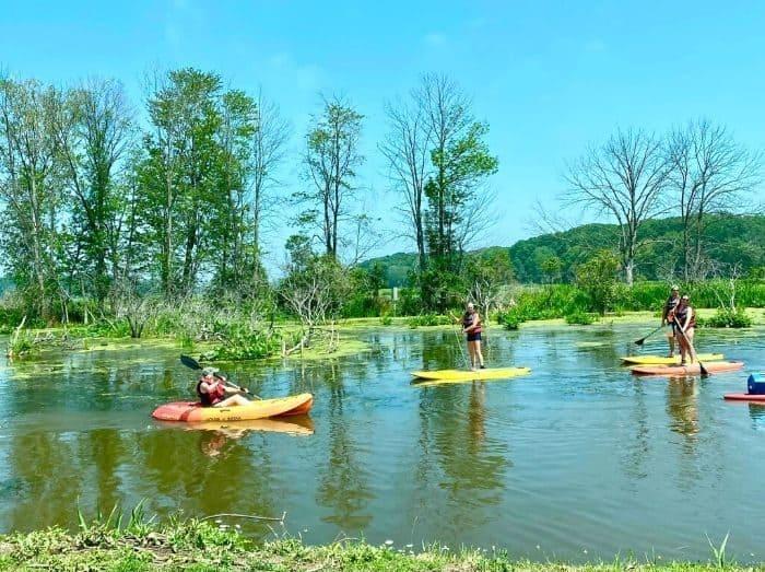 kayak-stand up -paddleboard-Mentor-Lagoons- Nature -Preserve- and- Marina